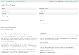 Review Employee Online Database And Workflow Templates Employee Reviews