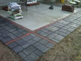 adding pavers to extend existing patio