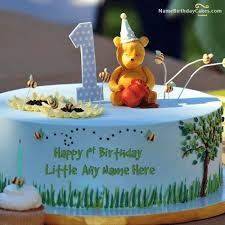 Online Happy 1st Birthday Cake With Name