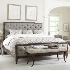 upholstered headboard and footboard king. Unique Footboard Thomasville Harlowe U0026 Finch Mirabeau King Sized Bed With Upholstered  Headboard And Footboard For And L