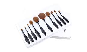 bliss and grace innovative oval brush set with storage case 10 piece
