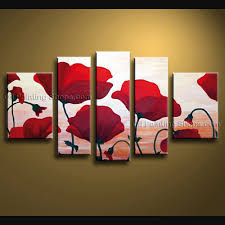 art poppies wall art collection of red poppy canvas wall art ideas