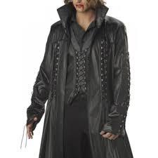 baron von bloodshed vampire trench coat black leather coat