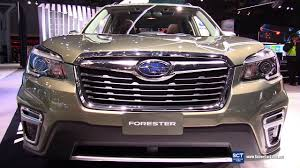 2019 subaru forester touring exterior and interior walkaround debut 2018 new york auto show