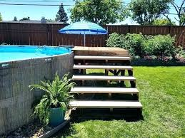 pool steps above ground pools build swimming pool steps diy above ground pool post pool