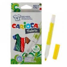 <b>Фломастеры для ткани</b> 6цв <b>Carioca</b> Fabric 6.0 мм, к/к 40956/6 ...