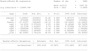 xtmixed estimates stata output