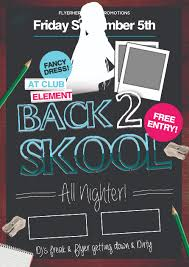 impressive back to school flyers in psd word ppt templates back to school flyer template 9