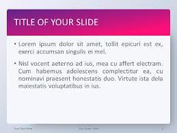 Pink Gradient Powerpoint Template Presentationgo Com