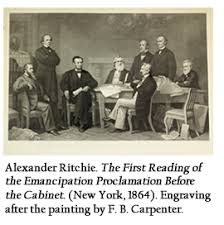 library company of philadelphia new yorker ads the first reading of the emancipation proclamation before the cabinet new york
