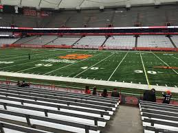 Syracuse Football Dome Seating Chart Carrier Dome Section 130 Syracuse Football Rateyourseats Com