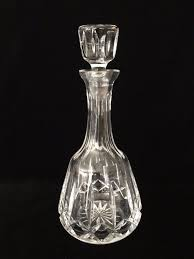 crystal wine decanters vintage atlantis cut crystal glass wine decanter w stopper signed