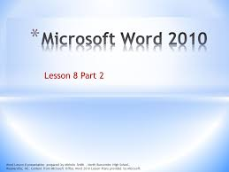 Lesson 8 Part 2 Word Lesson 8 Presentation Prepared By Michele Smith