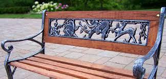 Wrought Iron Garden Bench Under The Tree U2014 Jbeedesigns Outdoor Outdoor Wrought Iron Bench