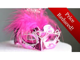 Miniature Masquerade Masks Decorations Miniature Mini Masquerade Masks Fuchsia Hot Pink Cake Topper 18