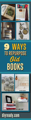 craft projects ideas with old books repurposed items can can used to make creative home