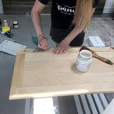 if your surface has been previously waxed do a fingernail wax test to see if it has then you must use mineral spirits to remove wax as the paint will not