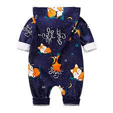 Yierying Baby <b>Zipper</b> Clothes <b>Stylish</b> Fox Design <b>Long</b>-Sleeve ...