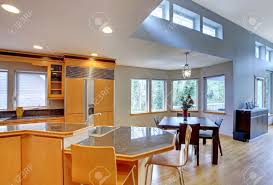 Kitchen With Granite Large Luxury Modern Wood Kitchen With Granite Counter Tops And