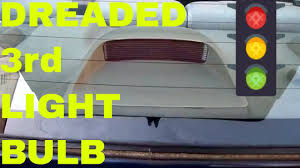 Third Brake Light Repair Change Replace Toyota 3rd Brake Light Change High Mount Stop Light Toyota Corolla