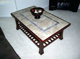 coffee table mosaic outdoor ceramic tile tables refinished with a top and new wood mouldin