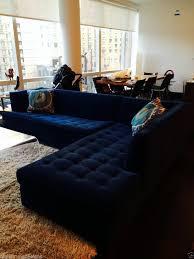 blue velvet sectional. Delighful Sectional Mitchell Gold Navy Blue Velvet Sofa Design On Sectional V