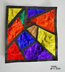 foil art kids stained glass art