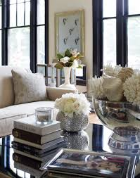 Living Room: Amazing Coffee Table With Flower Vases - Coffee Table Decor
