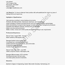 Sample Resume For 1 Year Experience In Manual Testing Qa Resume Samples Resume Format 24 Software Qa Resume Samples24 24 24