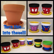diy project painted flowerpots