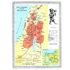 Illustrated Wall Maps Of The Bible Holyland Marketplace