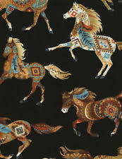 Horse Fabric | eBay & Timeless ~ HORSES Southwest Painted Ponies Natural~ 100% Cotton Quilt Fabric  BTY Adamdwight.com