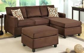 sofa with ottoman chaise chocolate microfiber sectional sofa with reversible chaise ottoman sectional with chaise lounge
