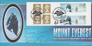 EVEREST 5 SIGNED FDC AFTAL Autograph COA ED HILLARY BAND LOWE WYLIE  WESTMACOTT | eBay