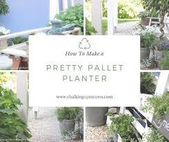 how to make a pretty pallet planter
