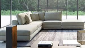 modern persis armless corner sectional sofa  moonbeam  zuri