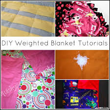Weighted Blanket Pattern Awesome 48 DIY Weighted Blanket Tutorials Sensory Hacks For Kids And