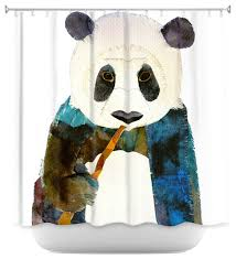 shower curtain unique from dianoche designs panda asian shower curtains
