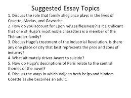 les miserable essay les miserables essays research papers 123helpme com