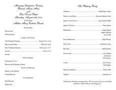 Catholic Wedding Mass Program Free Catholic Wedding Program Template 6 Wedding Programs