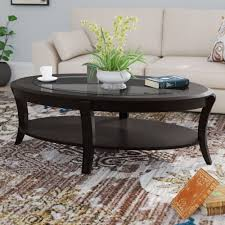 Innovative and contemporary arona glass coffee table with a wood base by tonin casa. Modern Contemporary Oval Coffee Tables You Ll Love In 2021 Wayfair