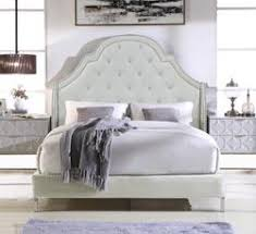 Good Iconic Home Napoleon Alexander Arthur Constantine Nero Bed Frame With  Wingback Headboard Button Tufted Velvet Upholstered