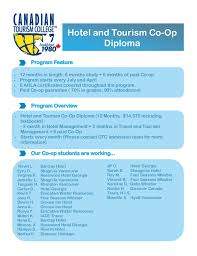 canadian tourism college hotel and tourism month coop diploma hotel and tourism co op diploma  hotel and tourism co op diploma