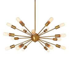 iconic lighting. interesting lighting 18light sputnik aged brass throughout iconic lighting l
