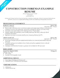 Construction Superintendent Resume Templates Fascinating Construction Superintendent Resume Templates Pictures Manager