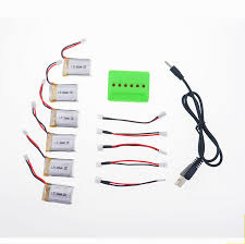 compare prices on v lipo charger online shopping buy low price 6x 3 7v 300mah lipo battery 6in1 lipo charger set for eachine h8c mini rc