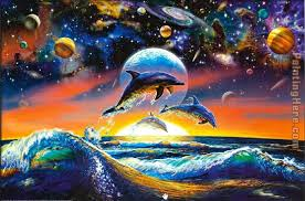 dolphin universe painting sea life dolphin universe art painting