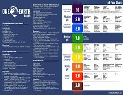One Earth Health Alkaline Food And Ph Chart 8x11 Printed On Waterproof And Durable Plastic Sheet