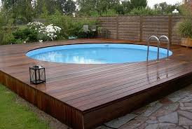 wood patio with pool. Above Ground Pool Decks - Freshome.com Wood Patio With U