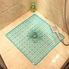 square bath mat shower bath mat transpa square bathroom floor mat shower room hollow suction cup mat b
